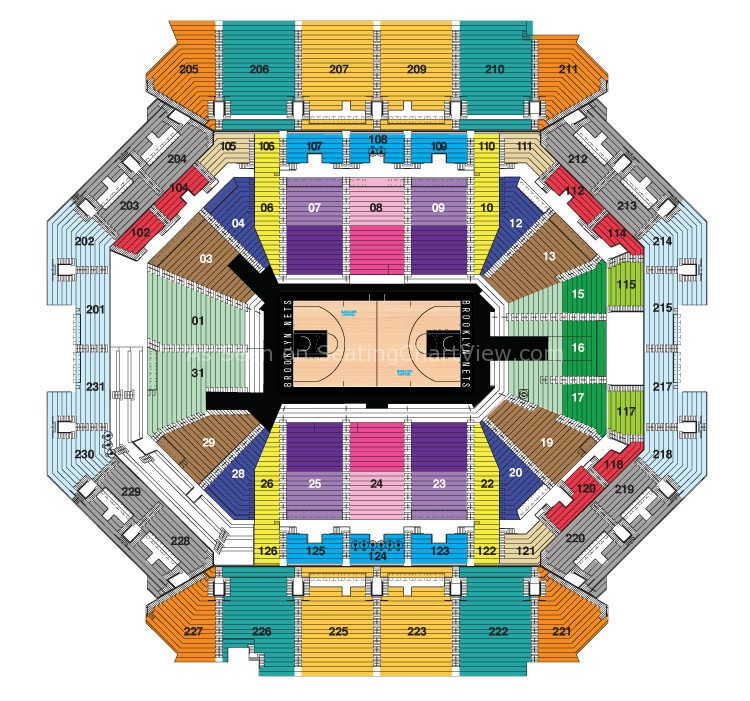 Barclays center brooklyn ny seating chart view for Barclays floor plan