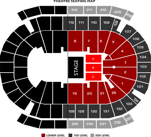 Prudential Center Half House Concert Seating Chart