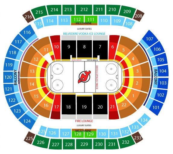 Prudential Center Hockey Seating Chart Prudential Center, Newark NJ