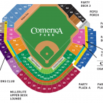 Comerica Park Baseball Seating Chart