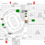 Lambeau Field Parking Map 150x150 Lambeau Field, Green Bay WI
