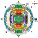 Mercedes Benz Superdome Football Seating Chart1 150x150 Mercedes Benz Superdome, New Orleans LA