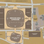 Mercedes-Benz Superdome Parking Map