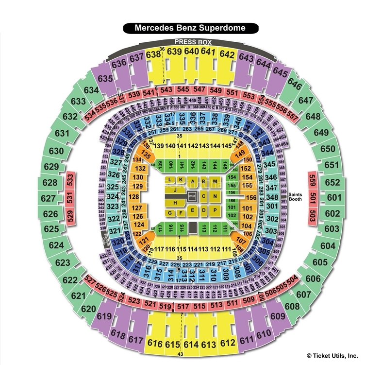new orleans saints seating chart mercedes benz superdome