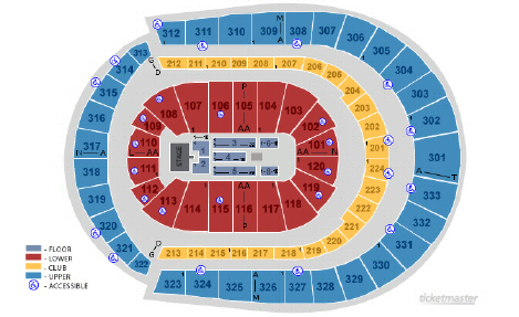 Quicken Loans Arena Seating Chart Wwe Raw