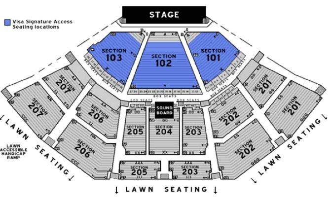 Aarons Amphitheatre At Lakewood Atlanta Seating Chart