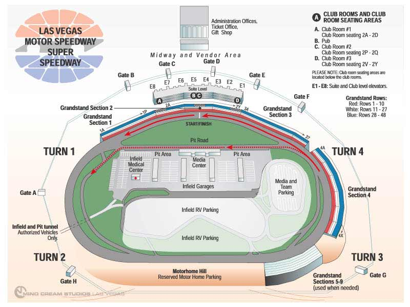 las vegas motor speedway las vegas nv seating chart view On las vegas motor speedway seating map