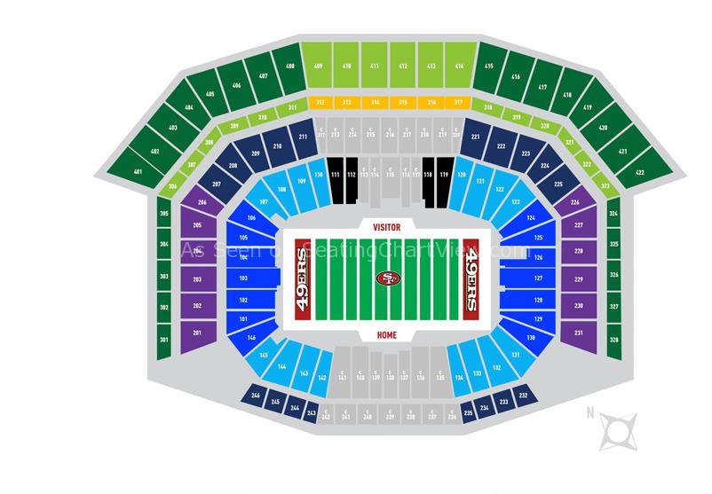Levi S Stadium Santa Clara Ca Seating Chart View