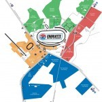 Charlotte Motor Speedway parking Map