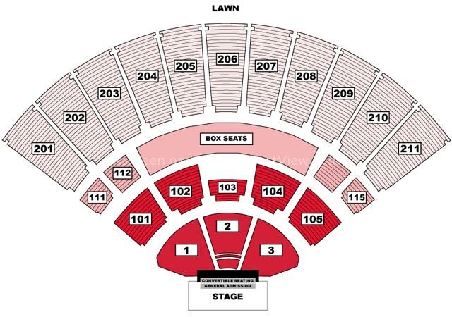 Toyota Walnut Creek >> Toyota Amphitheatre, Wheatland CA   Seating Chart View