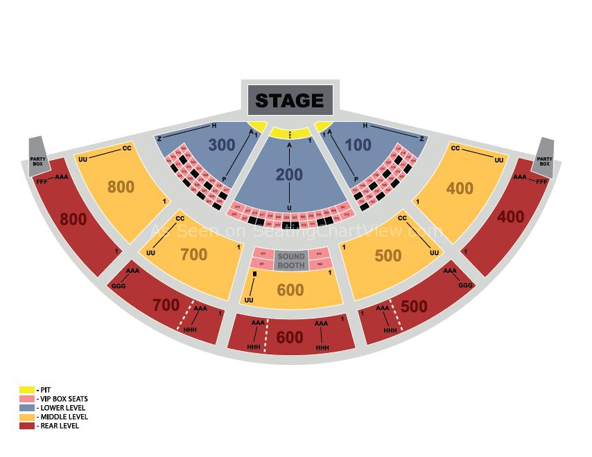Xfinity Theatre Hartford Ct Seating Chart View