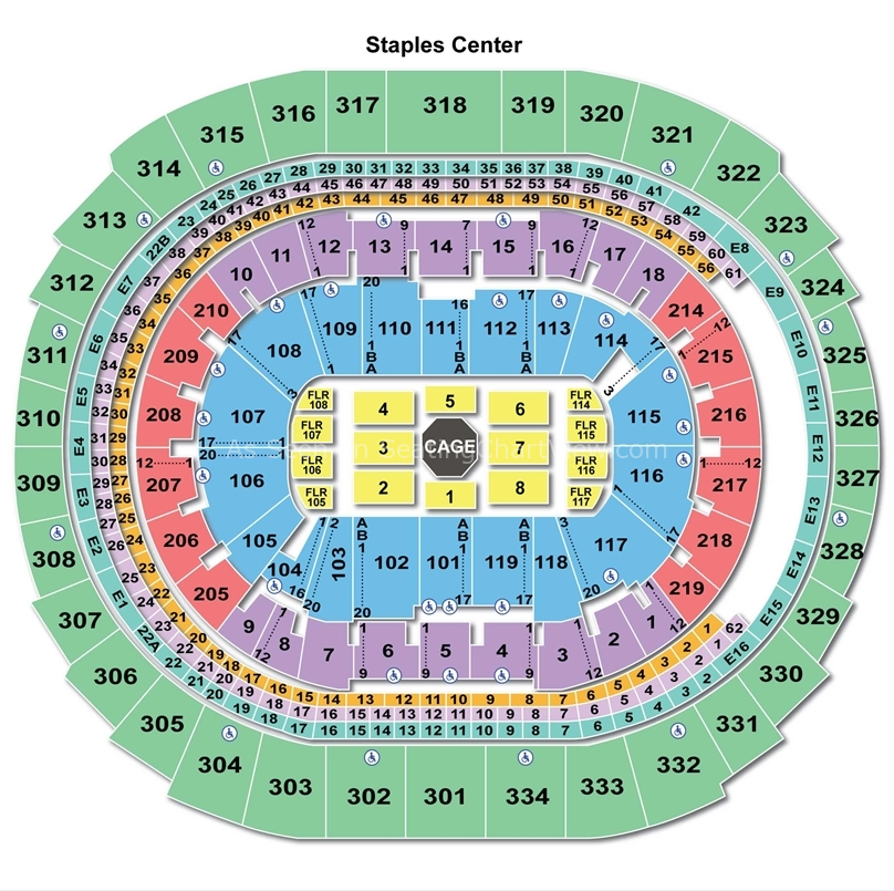 Staples Center, Los Angeles CA | Seating Chart View