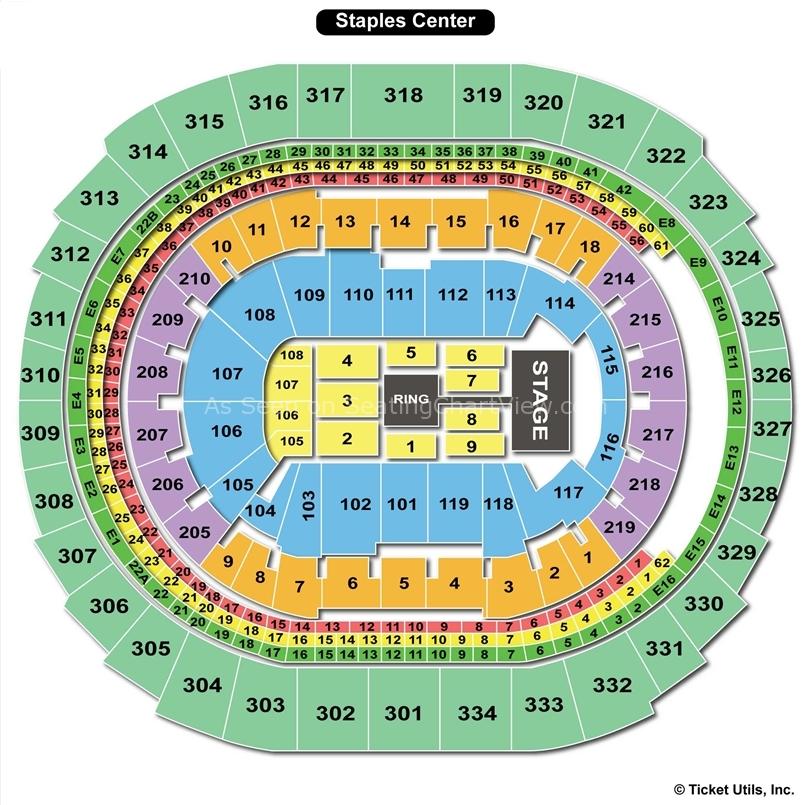 La Staples Center Seating Chart - seotoolnet.com