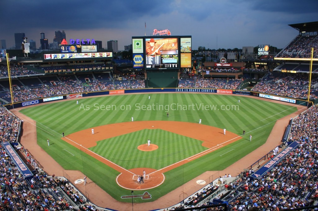 Turner Field Atlanta Ga Seating Chart View