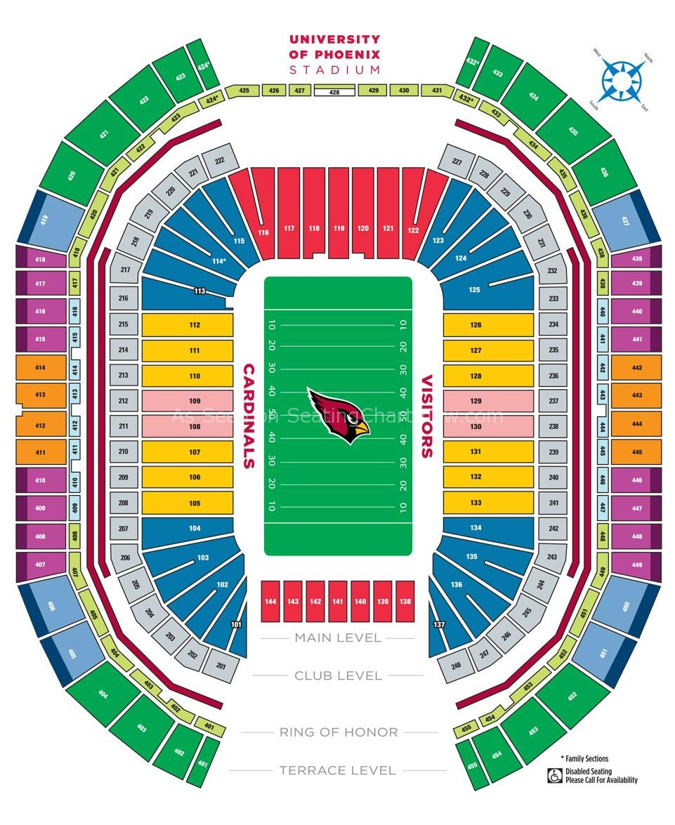 University Of Phoenix Stadium Phoenix Az Seating Chart View