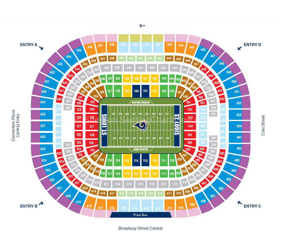 Edward Jones Dome St Louis Mo Seating Chart View