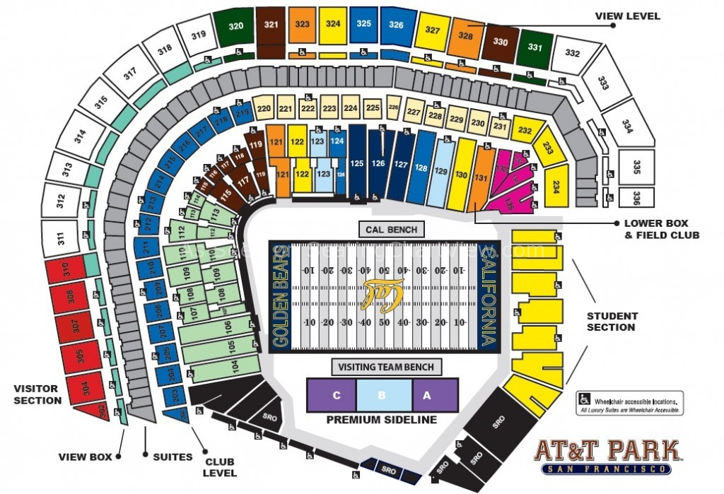 Image Result For Att Park Seat Map