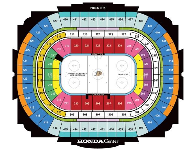 Honda Center, Anaheim CA | Seating Chart View