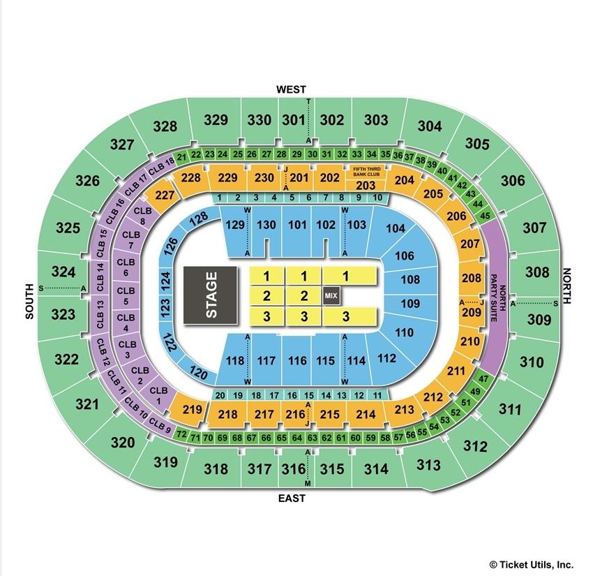 Amalie Arena End Stage Concert Seating Chart