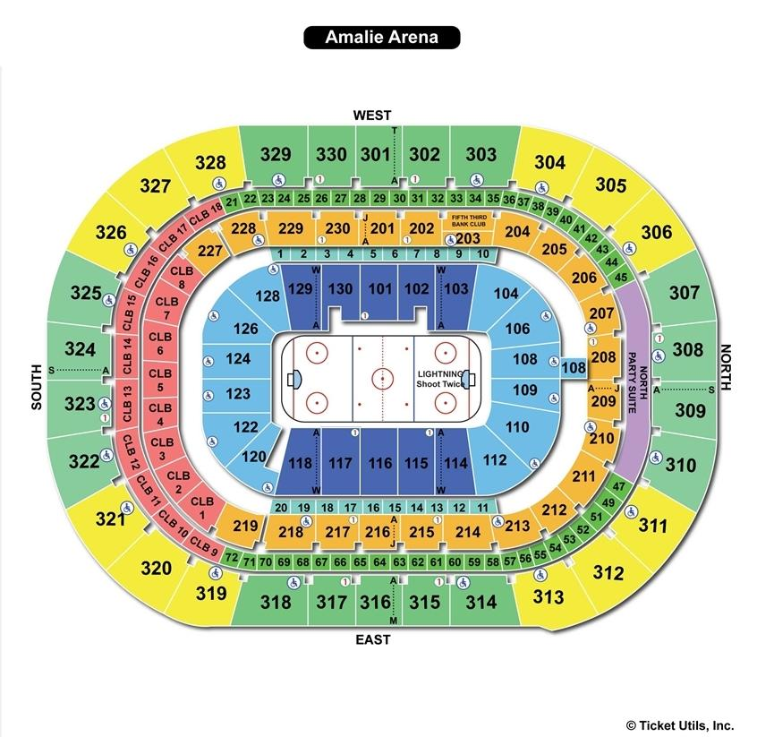 Amalie Arena Hockey Seating Chart