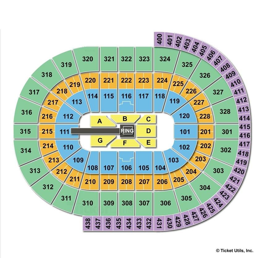 Canadian Tire Centre WWE Seating Chart