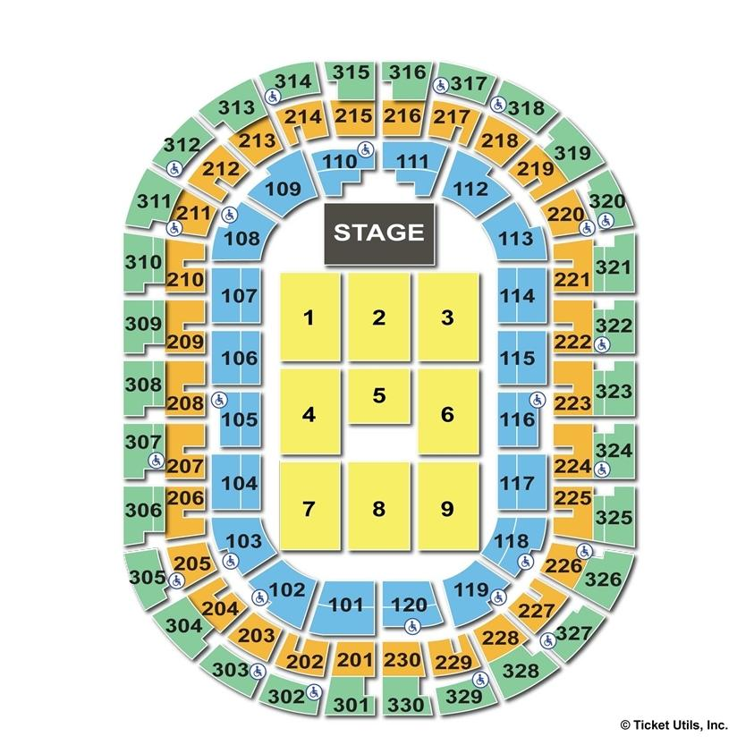 Chesapeake Energy Arena End Stage Concert Seating Chart