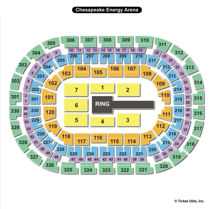 Chesapeake Energy Arena WWE Seating Chart