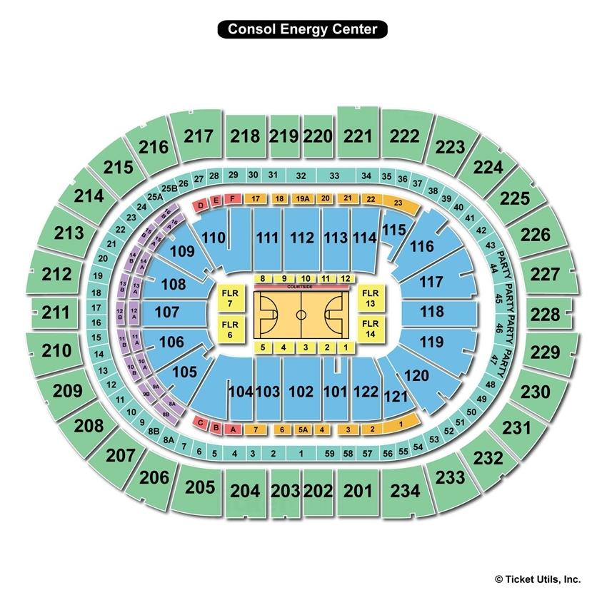Consol Energy Center Basketball Seating Chart