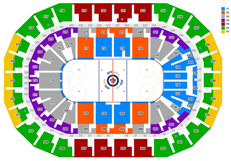 MTS Centre Hockey Seating Chart