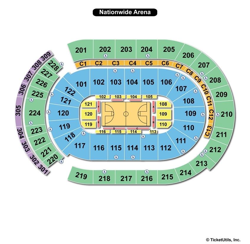 Nationwide Arena Basketball Seating Chart
