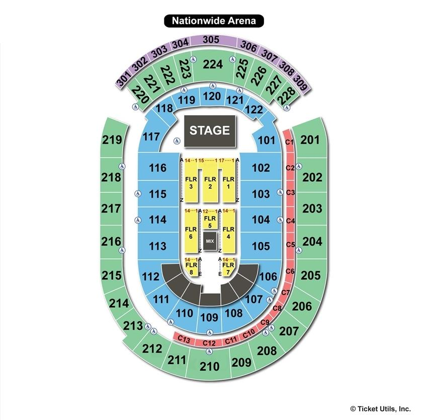 Nationwide Arena End Stage Concert Seating Chart
