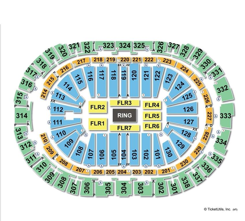 PNC Arena WWE Seating Chart