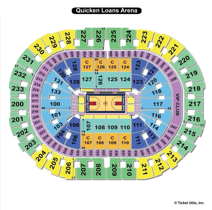 Quicken Loans Arena Basketball Seating Chart