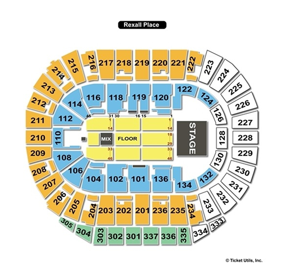 Rexall Place End Stage Seating Chart