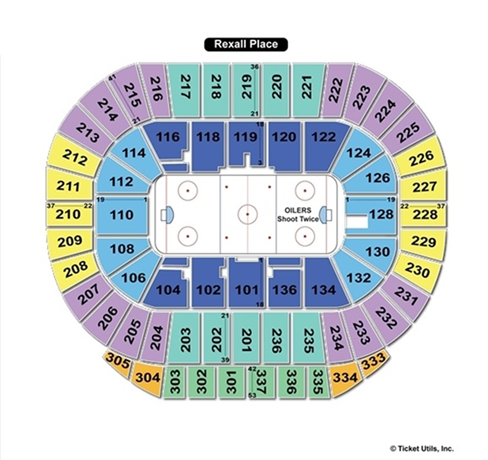 Rexall Place Hockey Seating Chart