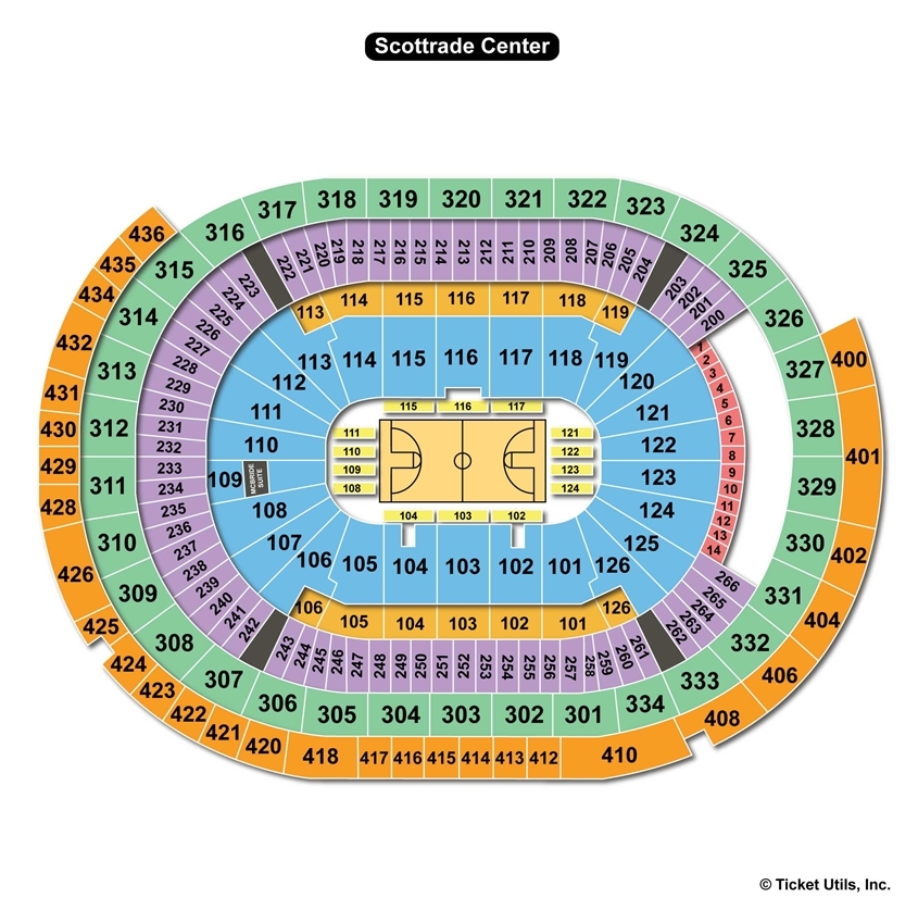 Scottrade Center Basketball Seating Chart