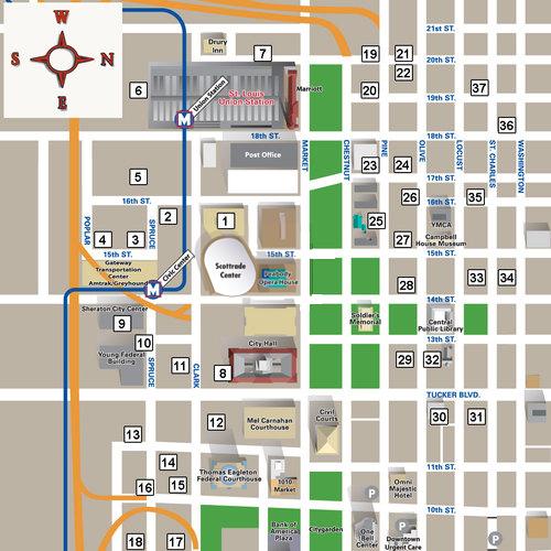 Scottrade Center Parking Map