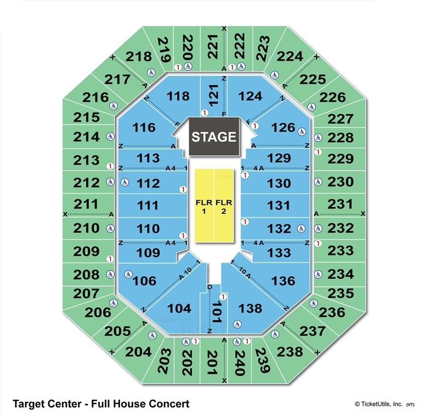 Target Center End Stage Seating Chart