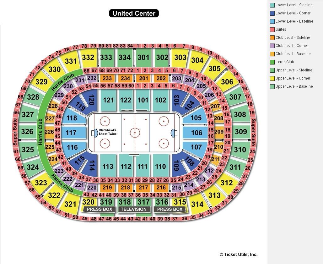 United Center Hockey Seating Chart