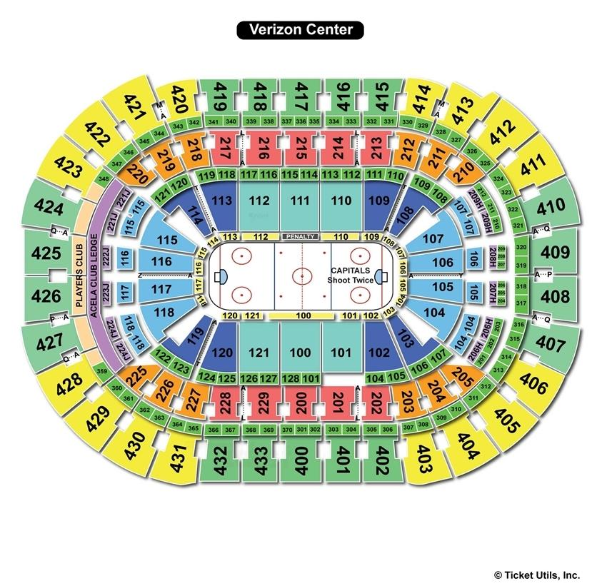 Verizon Center Hockey Seating Chart