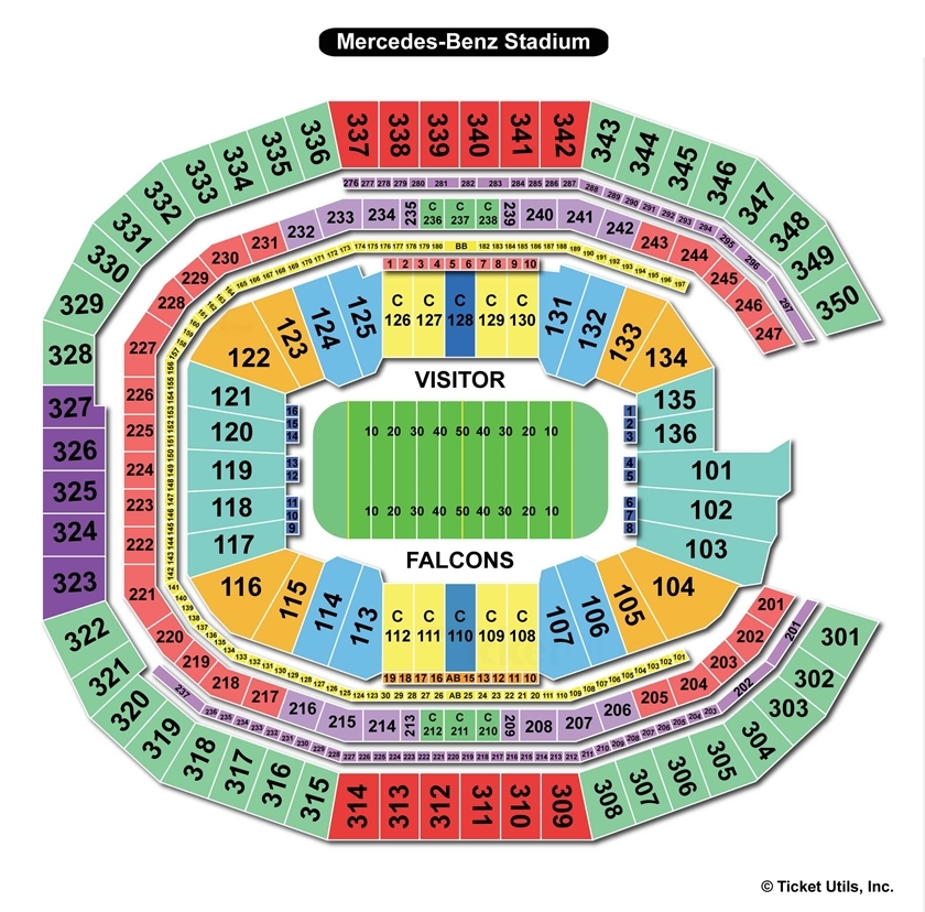 mercedes benz stadium atlanta ga seating chart view