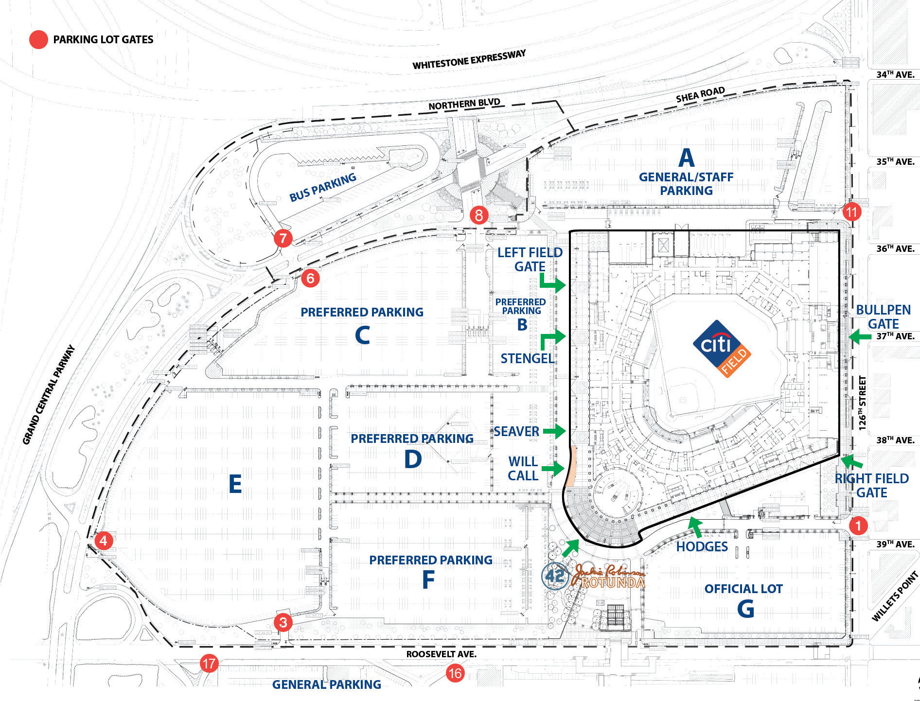 Citi Field, Queens NY on gila river arena parking map, nrg parking map, amalie arena parking map, truman sports complex parking map, space coast stadium parking map, nashville lp field parking map, bb&t field parking map, red bull arena parking map, arthur ashe stadium location map, scottsdale stadium parking map, stadium parking lot map, sports authority field at mile high parking map, coors field map, chase field parking map, queens college parking map, nissan field parking map, foxboro stadium parking map, new york yankees parking map, new yankee stadium gate map, levi's stadium parking map,