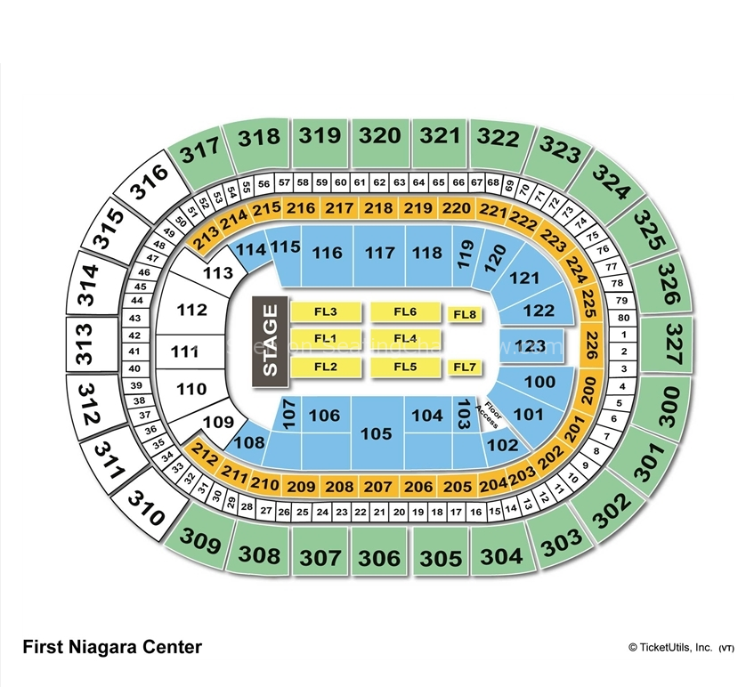 First Niagara Center Concert Seating Chart Keybank
