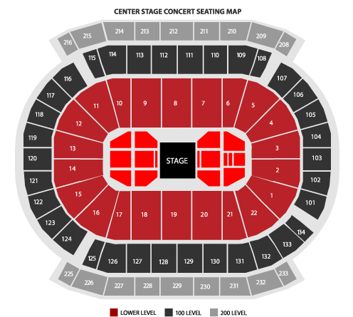 Prudential Center-Center Stage Seating Chart