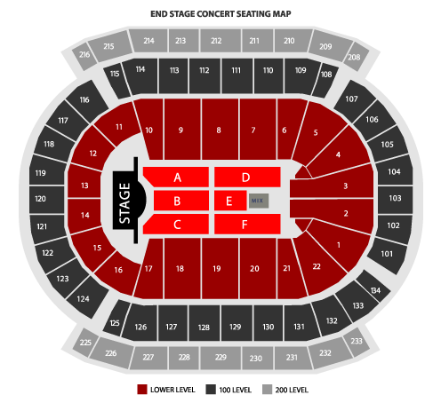 Prudential Center End Stage Seating Chart