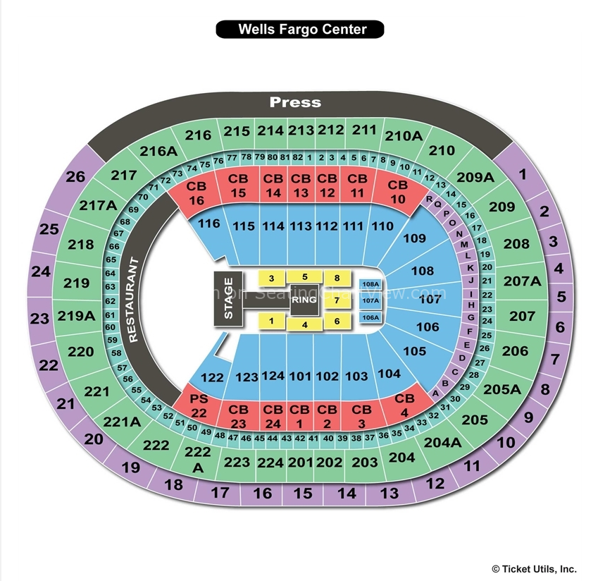 Wells Fargo Center Wwe Seating Chart