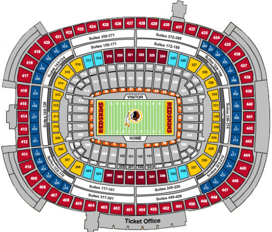 Redskins New Stadium: FedExField, Landover MD