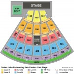 Darien Lake Performing Arts Center Seating Chart