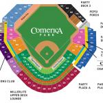 Comerica Park Baseball Seating Chart