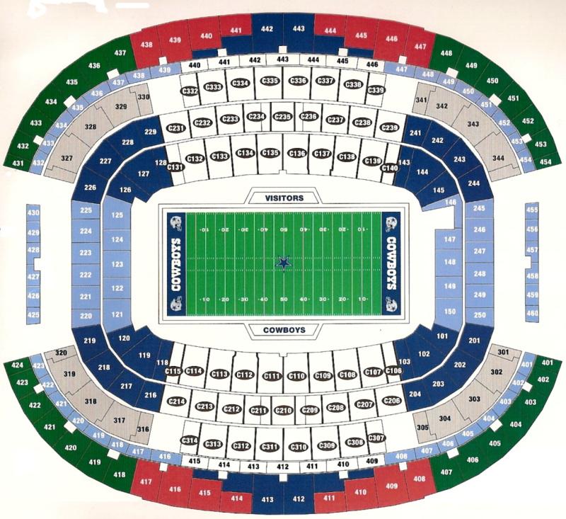 AT&T Stadium, Arlington TX | Seating Chart View